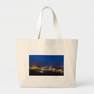 Hungary Budapest at night panorama Large Tote Bag