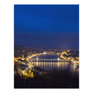 Hungary Budapest at night panorama Letterhead
