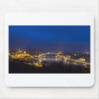 Hungary Budapest at night panorama Mouse Pad