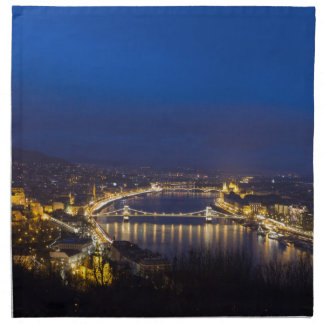 Hungary Budapest at night panorama Napkin