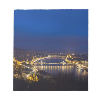 Hungary Budapest at night panorama Notepad