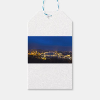 Hungary Budapest at night panorama Pack Of Gift Tags