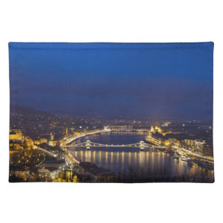 Hungary Budapest at night panorama Placemat