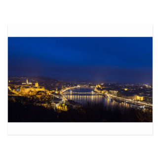Hungary Budapest at night panorama Postcard