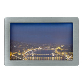 Hungary Budapest at night panorama Rectangular Belt Buckle