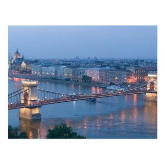 HUNGARY, Budapest: Szechenyi (Chain) Bridge, 3 Postcard