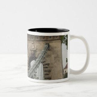Hungary, capital city of Budapest. Historic 2 Two-Tone Coffee Mug