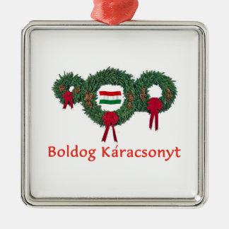Hungary Christmas 2 Metal Ornament