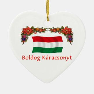 Hungary Christmas Ceramic Ornament