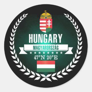 Hungary Classic Round Sticker