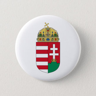 Hungary coat of arms 2 inch round button