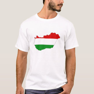 hungary country flag map shape symbol T-Shirt