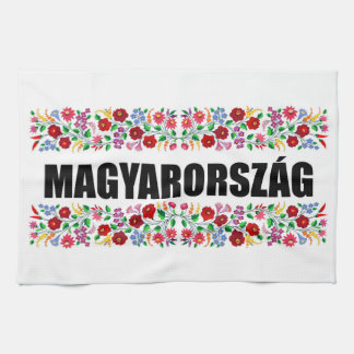 hungary country symbol name text folk motif tradit hand towels