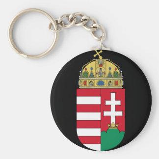 hungary emblem basic round button keychain