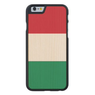 Hungary Flag Carved Maple iPhone 6 Case