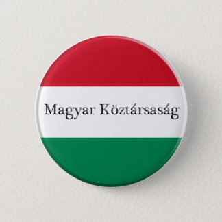 Hungary Flag Colors Button
