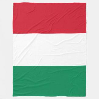Hungary Flag Fleece Blanket