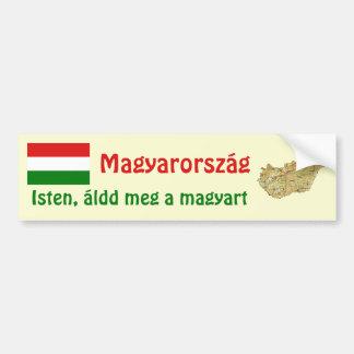 Hungary Flag + Map Bumper Sticker