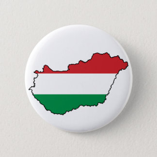 Hungary Flag Map HU 2 Inch Round Button
