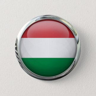 Hungary Flag Round Glass Ball 2 Inch Round Button