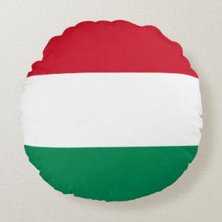 Hungary Flag Round Pillow