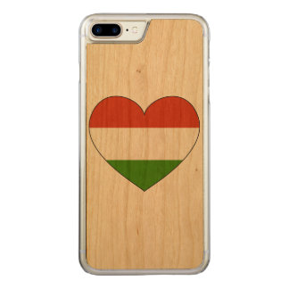 Hungary Flag Simple Carved iPhone 7 Plus Case