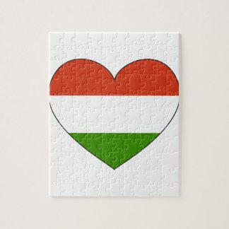 Hungary Flag Simple Jigsaw Puzzle