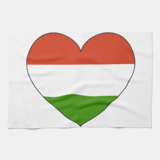 Hungary Flag Simple Kitchen Towel