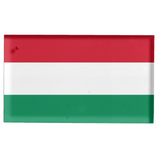 Hungary Flag Table Card Holders
