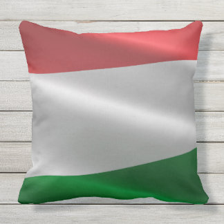 Hungary Flag throw pillows
