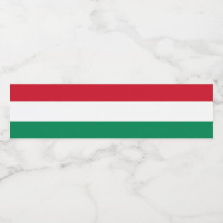 Hungary Flag Water Bottle Label