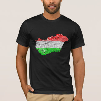Hungary Flagcolor Map T-Shirt