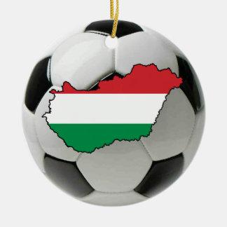 Hungary football soccer ornament