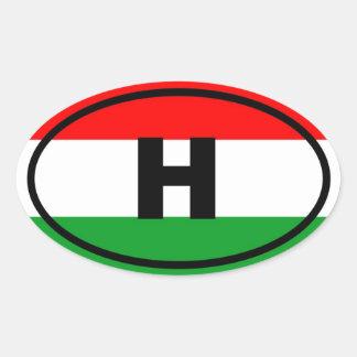 Hungary - H - European Oval Sticker