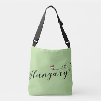 Hungary Heart Customizable Bag, Hungarian Crossbody Bag
