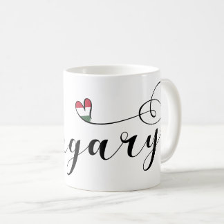 Hungary Heart Mug, Hungarian Coffee Mug