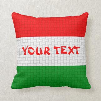 Hungary Hungarian flag: ADD TEXT Throw Pillow