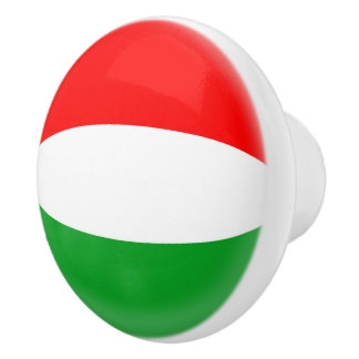 Hungary Hungarian Flag Ceramic Knob