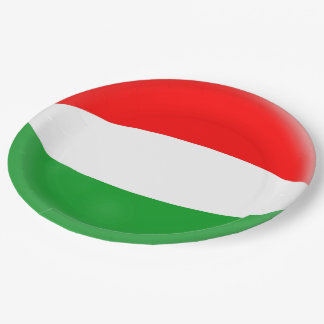 Hungary Hungarian Flag Paper Plate