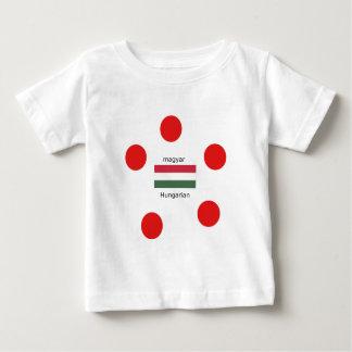 Hungary Language And Flag Design Baby T-Shirt