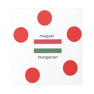 Hungary Language And Flag Design Notepad