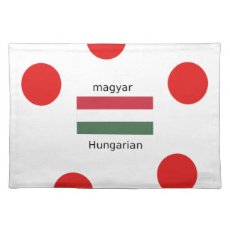 Hungary Language And Flag Design Placemat