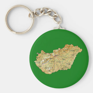 Hungary Map Keychain
