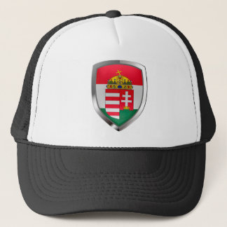 Hungary Metallic Emblem Trucker Hat