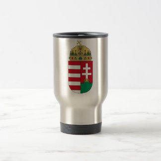 Hungary Official Coat Of Arms Heraldry Symbol 15 Oz Stainless Steel Travel Mug