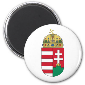 Hungary Official Coat Of Arms Heraldry Symbol 2 Inch Round Magnet