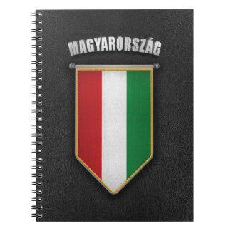 Hungary Pennant with high quality leather look Notebook