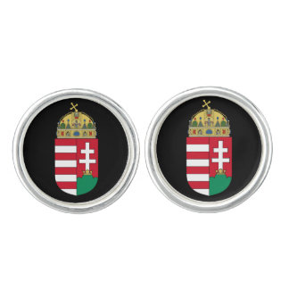 Hungary* Round Silver-plated Cufflinks