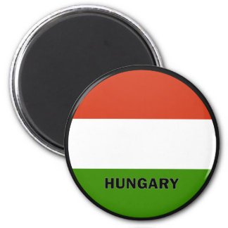 Hungary Roundel quality Flag 2 Inch Round Magnet