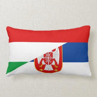 hungary serbia flag country half symbol lumbar pillow
